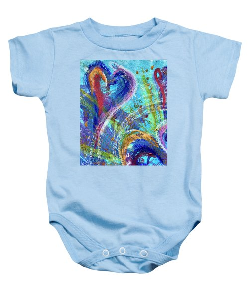 Graceful Hearts Baby Onesie