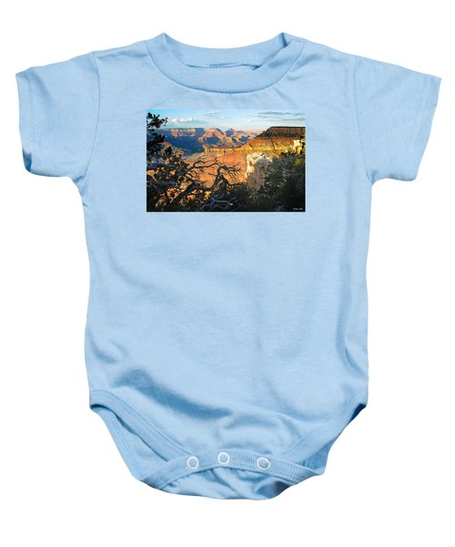 Grand Canyon South Rim - Sunset Through Trees Baby Onesie