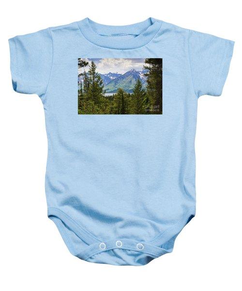 Grand Teton Mountains Baby Onesie