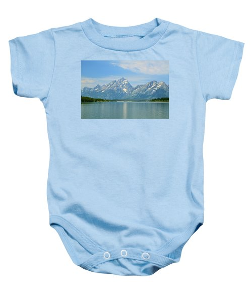 Grand Teton Over Jackson Lake Baby Onesie
