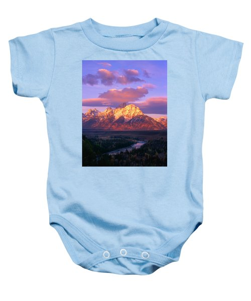 Grand Teton Sunrise Baby Onesie
