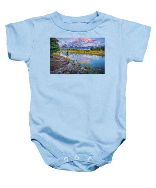 Grand Teton Sunrise Reflection Baby Onesie