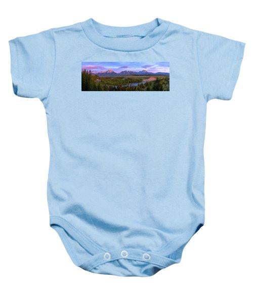 Grand Tetons Baby Onesie