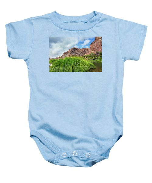 Grass Along John Day River In Central Oregon Baby Onesie