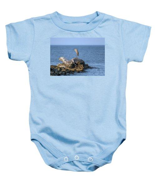 Great Blue Heron On Chesapeake Bay Baby Onesie