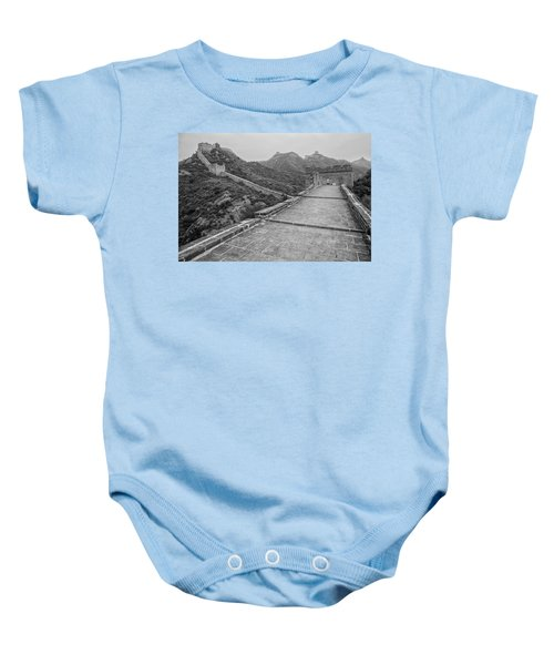 Baby Onesie featuring the photograph Great Wall 5, Jinshanling, 2016 by Hitendra SINKAR