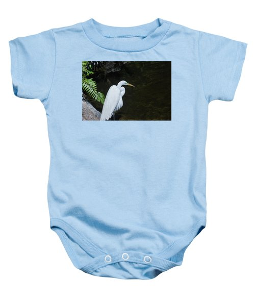 Great White Egret Baby Onesie