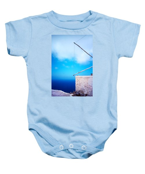 Greek Windmill Baby Onesie