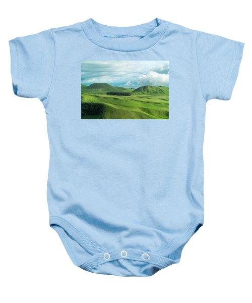 Green Hills On The Big Island Of Hawaii Baby Onesie