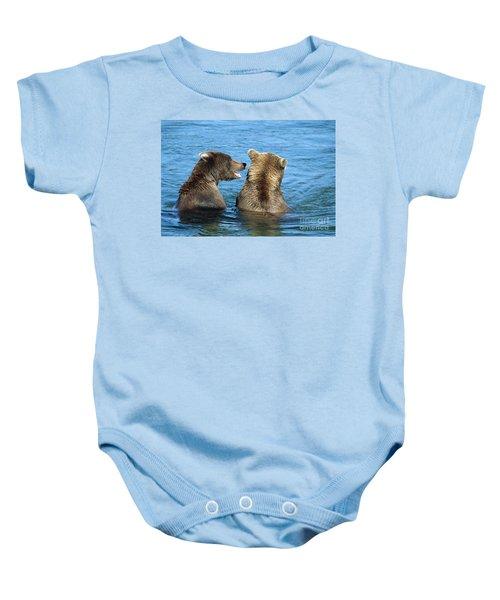 Grizzly Bear Talk Baby Onesie