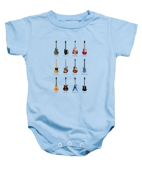 Guitar Icons No3 Baby Onesie by Mark Rogan