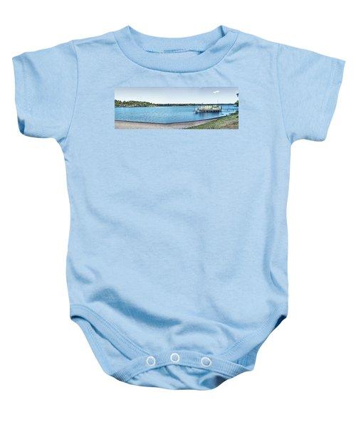 Gull Lake Panorama Baby Onesie