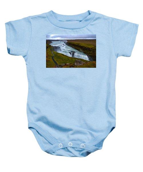 Gullfoss Waterfall #2 - Iceland Baby Onesie