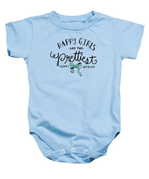 Happy Girls  Baby Onesie by Elizabeth Taylor