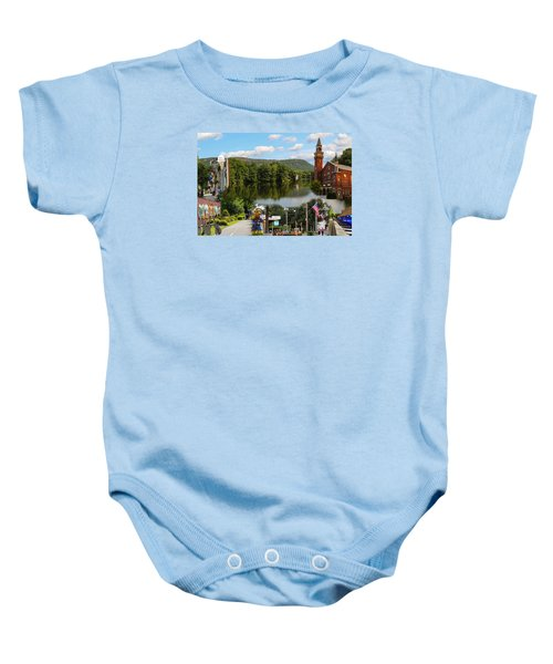 Happy In Easthampton Collage Baby Onesie