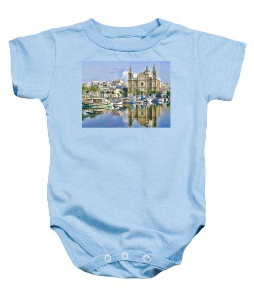 Harborside Msida Malta Baby Onesie