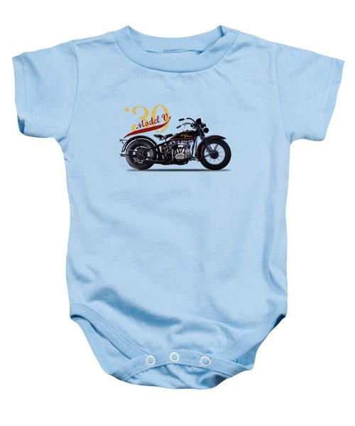 Harley-davidson Model V 1930 Baby Onesie by Mark Rogan