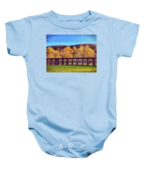 Harpers Ferry Train Tracks Baby Onesie