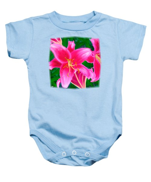 Hawaiian Flowers Baby Onesie