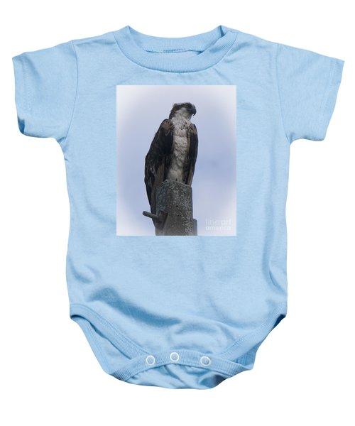 Hawk Pose Baby Onesie