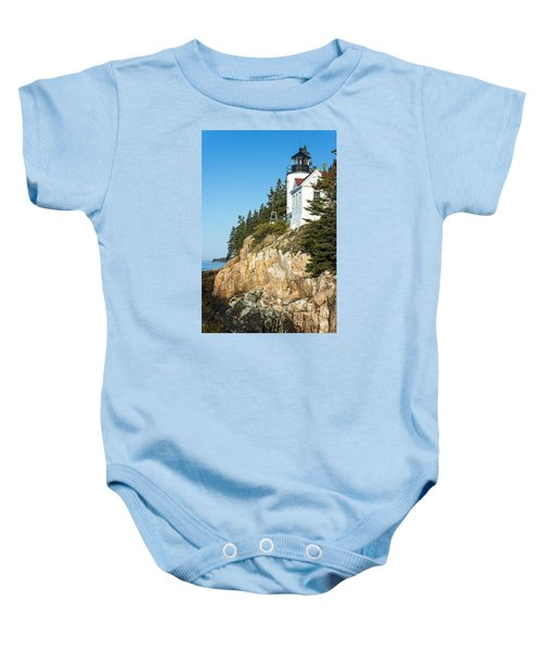 Baby Onesie featuring the photograph Head Lighthouse by Anthony Baatz