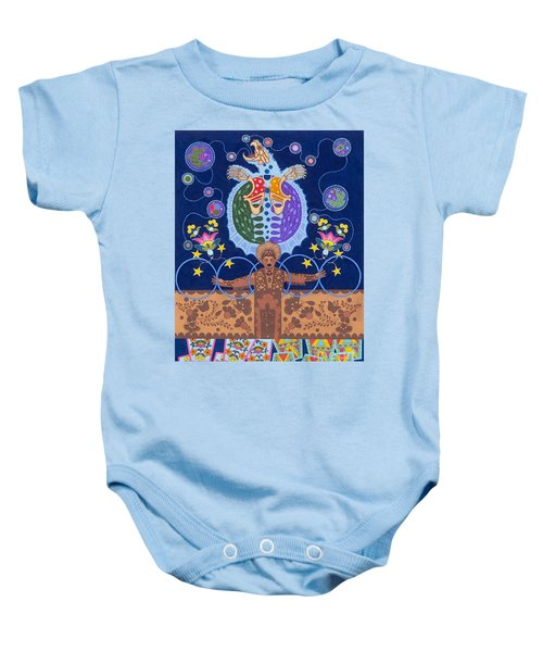 Baby Onesie featuring the painting Healing - Nanatawihowin by Chholing Taha