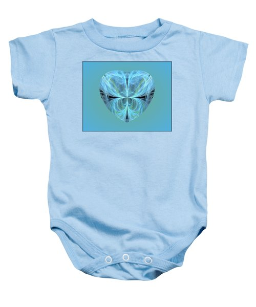 Heart - Ghost Blue Baby Onesie
