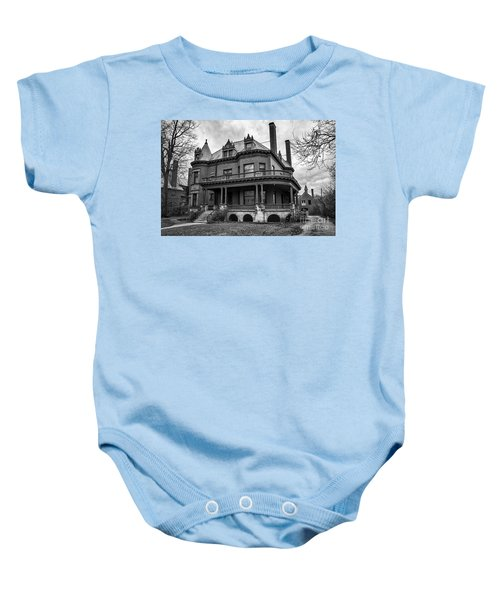 Heritage Hill Mansion In Black And White Baby Onesie