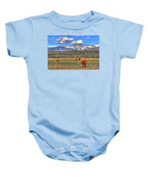 Highland Colorado Baby Onesie by Scott Mahon