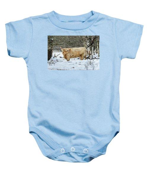 Highlander In Winter Baby Onesie