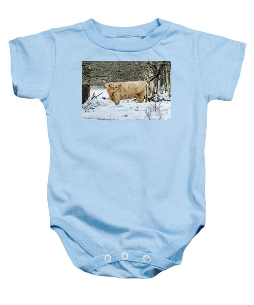 Highlander In Winter Baby Onesie