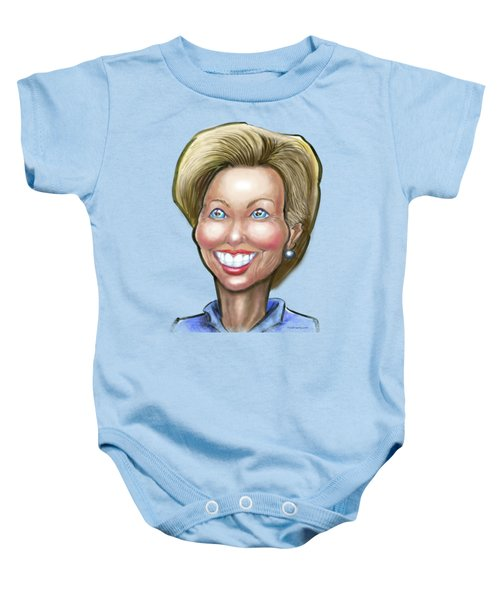Hillary Clinton Caricature Baby Onesie