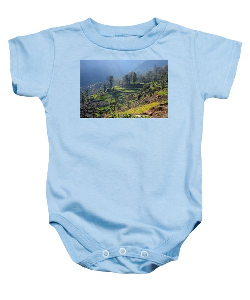 Himalayan Stepped Fields - Nepal Baby Onesie