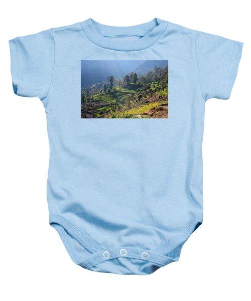 Himalayan Stepped Fields - Nepal Baby Onesie