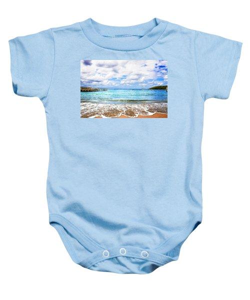 Honduras Beach Baby Onesie