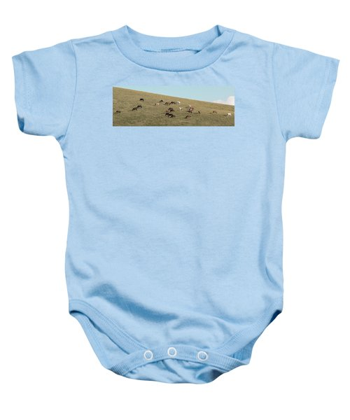 Horses On The Hill Baby Onesie