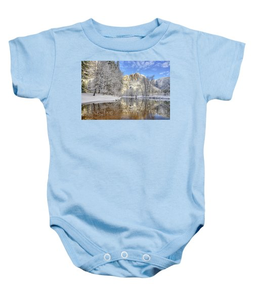Horsetail Fall Reflections Winter Yosemite National Park Baby Onesie