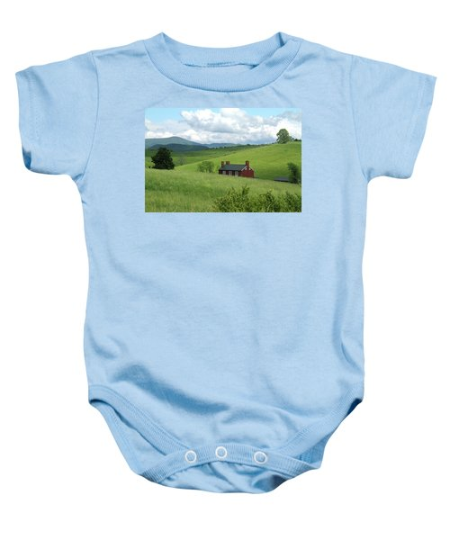 House In The Hills Baby Onesie