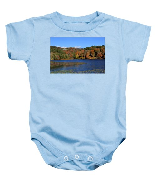 House In The Mountains Baby Onesie