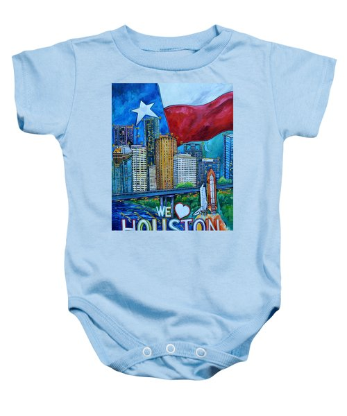 Houston Montage Baby Onesie