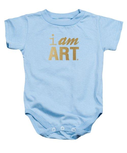 I Am Art- Gold Baby Onesie