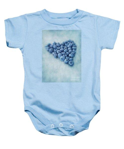I Love Blueberries Baby Onesie