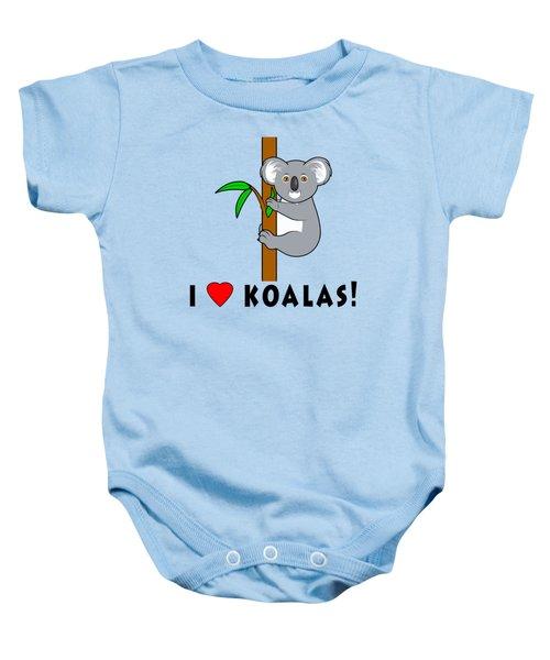 I Love Koalas Baby Onesie