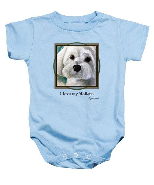I Love My Maltese Baby Onesie