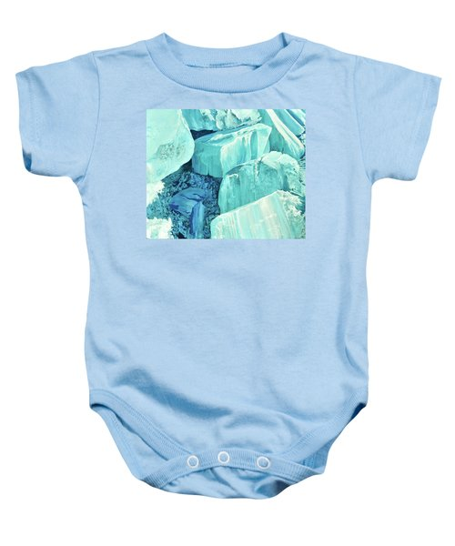 Ice Pushed Up On A Lake Baby Onesie