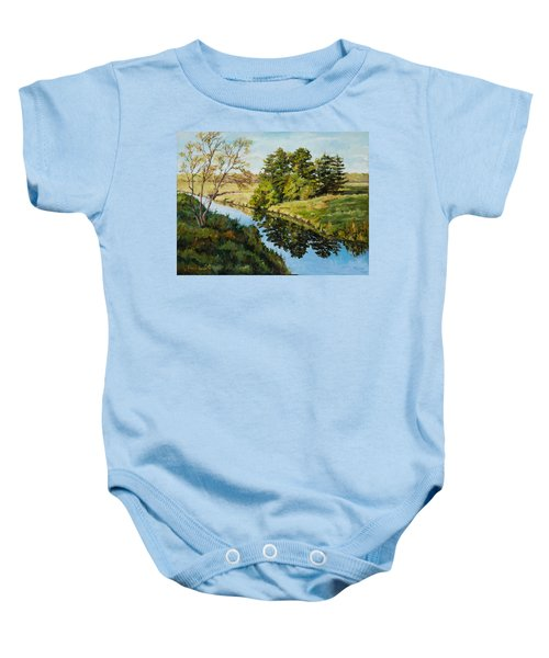 Illinois Countryside  Baby Onesie