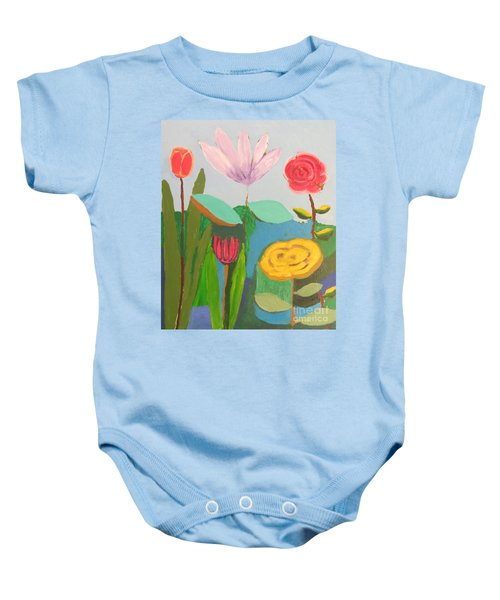Imagined Flowers One Baby Onesie by Rod Ismay
