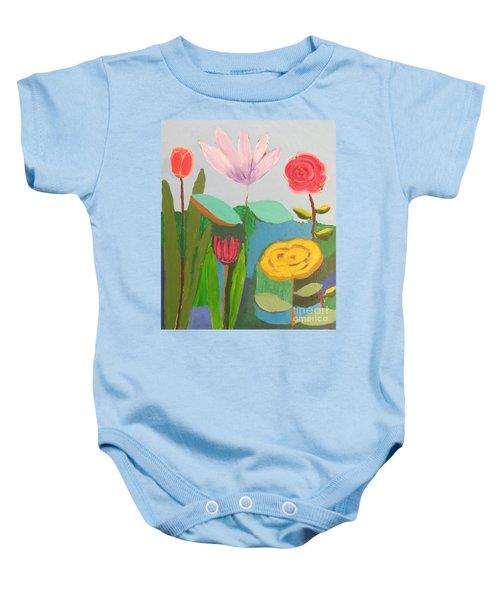 Imagined Flowers One Baby Onesie
