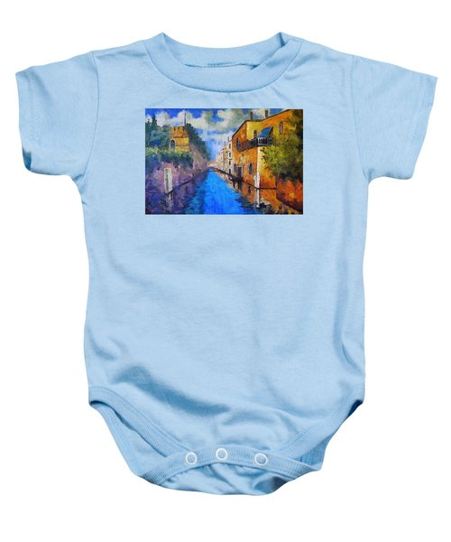 Impressionist D'art At The Canal Baby Onesie