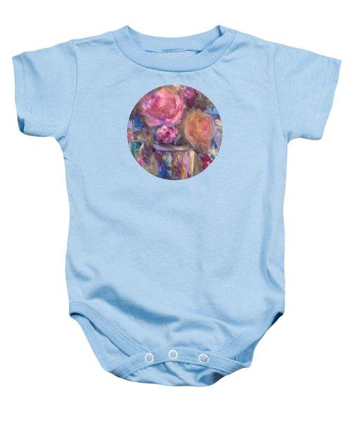 Impressionist Floral Art Baby Onesie